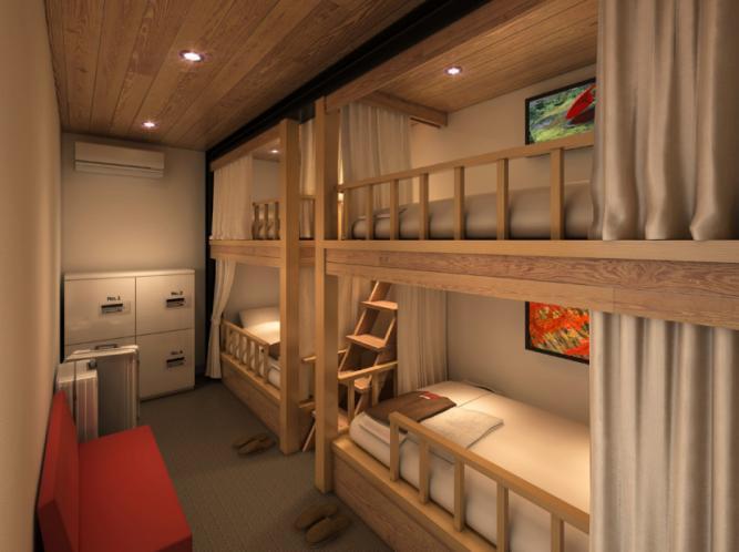 家族でも宿泊できる4ベッドルームのイメージ