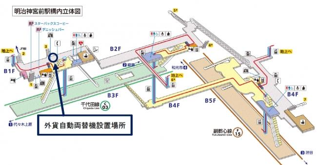 東京メトロ外貨自動両替機設置場所
